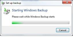 Preparing Backup