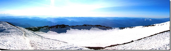a crater do Rainier - Panorâmica